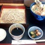 そば処山本 - 料理写真:ミニ天丼セット(2015.12)
