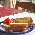 風の家 - クロックムッシュ(ハム・チーズのホットサンド) 1,200円