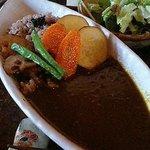 カフェ霑 - お豆さんと野菜の玄米カレー