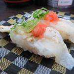 回転寿司ととぎん - 真ふぐタタキ