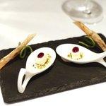 クーカーニョ - アミューズ ピスタチオとチーズ