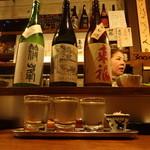 45906363 - 利き酒セット3種類(おまかせ)600円 ※2015年12月