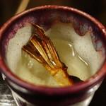 丸安 - ☆ひれ酒をパチリ(^O^)