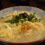 丸安 - ☆雑炊に少しポン酢をタラリ☆