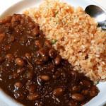 45907120 - 「豆」見えますね?「豆」スパイスがよく効いていて、ずっとあとまで残る味でした。カレー風味なんです。