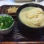 Udon Maruka - つけ 大盛り \500             ちくわ天 \160