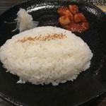 45910057 - レバ焼き定食 ¥1,000 のライス