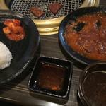 45910061 - レバ焼き定食 ¥1,000
