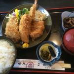 喰処 さか本 - ミックスフライ定食¥1580♪