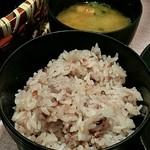 和食と甘味かんざし - 十穀米・お味噌汁