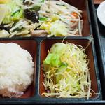 東洋軒 - 野菜炒めセット:850円/2015年12月