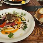 45914354 - 本日の魚料理(なんとか鯛)と野菜のグリル  1350円