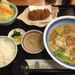 とんかつ 味奈味 - 半ちゃんセット(1080円)