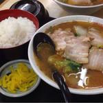 45920881 - スタミナチャーシューメン定食〜(^.ー^)ノ¥750円