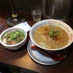 45920883 - 担々麺¥750&チャーシュー丼¥300