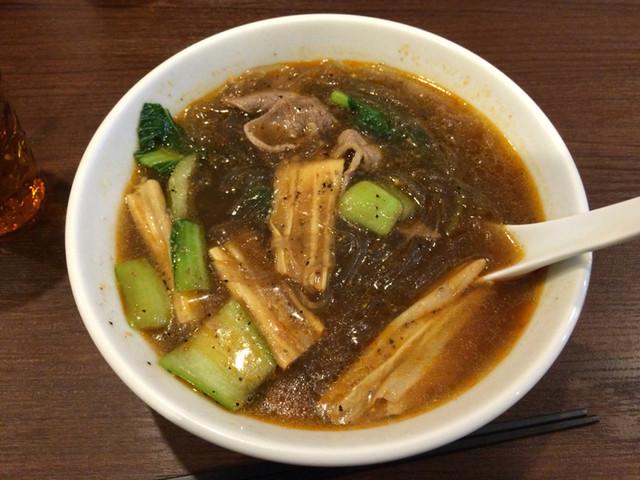 四川麻辣湯 - 中辛、板春雨、羊肉+油菜+湯葉