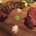 博多 肉道楽 - 熟成肉2種盛