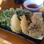ドライブイン大越路 - 野菜天 600円