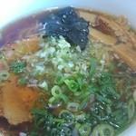 麺侍どらぁご - 葱は、小口切りとみじん切り
