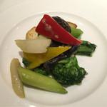 大阪 聘珍樓 - 薬膳ランチ3800円③豆腐の何かで炒めた野菜とかで美味しい