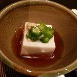 八塩 - 2007.07 お通し(クルミ豆腐)