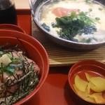 ジョイフル - 料理写真:ねぎトロ丼と明太玉子とじうどん定食