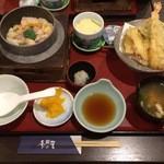 45932484 - 釜飯天ぷら膳/鶏釜飯(1350円)