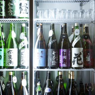 80種類以上!定番から希少種まで…厳選の日本酒をお試しあれ。