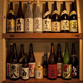 焼酎(本格焼酎、果実酒)が120種類以上