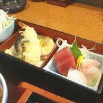 和風レストラン そうま - 刺身・天ぷら・サラダが付いてるっぽ