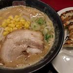 45940410 - 餃子定食(味噌ラーメン)