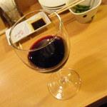 45940887 - 赤ワインと。。。枝豆。アレ?フレンチ気分が。。。