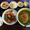 百香楼 - 料理写真:茄子と豚肉炒めセット(台湾ラーメンセット980円)