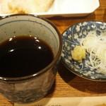 東京バッソ - 葱、きちんと白葱、本山葵擦り