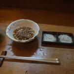 天ぷら たけうち - 天つゆの大根おろしが進化していました