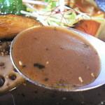 スープカレー モンキー マジック - オリジナルスープはこんな感じ