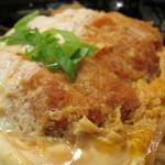 花旬庵 - かつ丼セット(そば)※ヨード卵「光」を使用