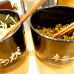 博多一幸舎 - 結構辛い高菜