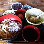 和利の家 - 二色麺 そばかきセット