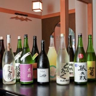 多彩に揃う全国各地の日本酒