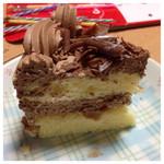 45951909 - チョコデコレーションの断面です。