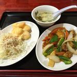 華龍飯店 - 酢豚と海老マヨ