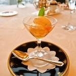 レストラン シャンボール - みかんのリオレ、生姜のアイスクリーム