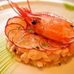 45954566 - 赤エビと野菜のレムラード ライム風味