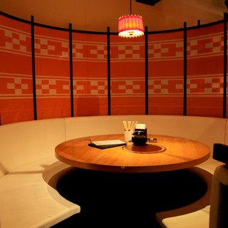 広々とした個室完備