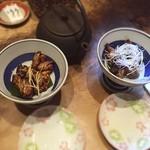たむろ - 肝 タレふわふわ と 塩カリカリ