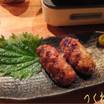 とりや - 途中から、も1人増えたので料理も追加♪ つくね(490円)も☆彡 つくねも食感良くて美味しい〜!