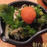 とりや - 鶏皮ポン酢(360円)♪ 鶏肉はどのお料理も旨味があって、鶏皮はコリコリ! あ〜日本酒が飲みたくなるよ(*^.^*)