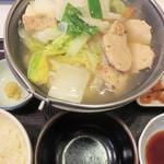 すき家 - 鶏つくね鍋定食