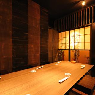 落ち着いた大人の個室でゆったり宴会-接待・歓迎会・送別会-